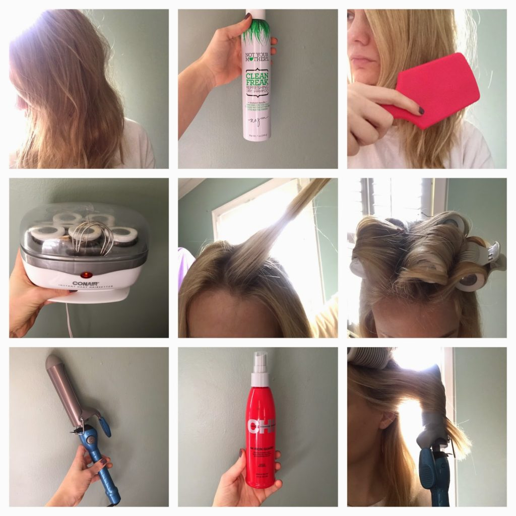how to get big curls with a straightener