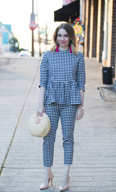 Victoria Beckham for Target Gingham Outfit