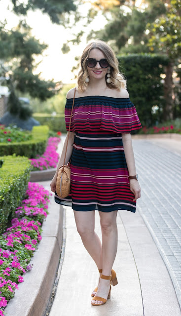 It's Springtime in Vegas and this Memphis Fashion blogger is sharing an easy to style Joie Dress with Neely Phelan earrings.