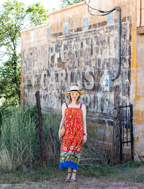 Coming back from Horseshoe Bend, Arizona this Memphis Fashion Bloggers shares how she styles this floral Tory Burch dress with a beautiful Utah backdrop.