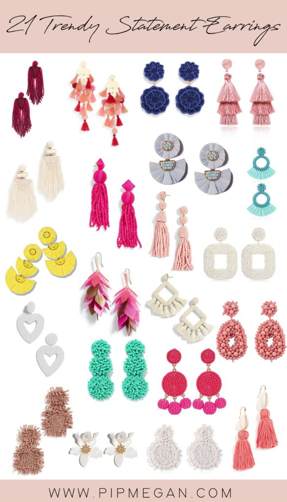 Trendy Statement earrings
