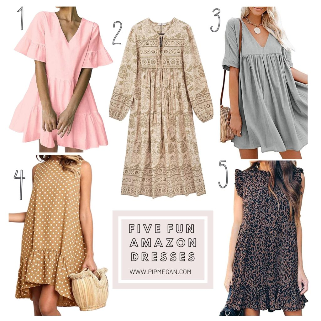 5 Fun Amazon Dresses + Recent Purchases