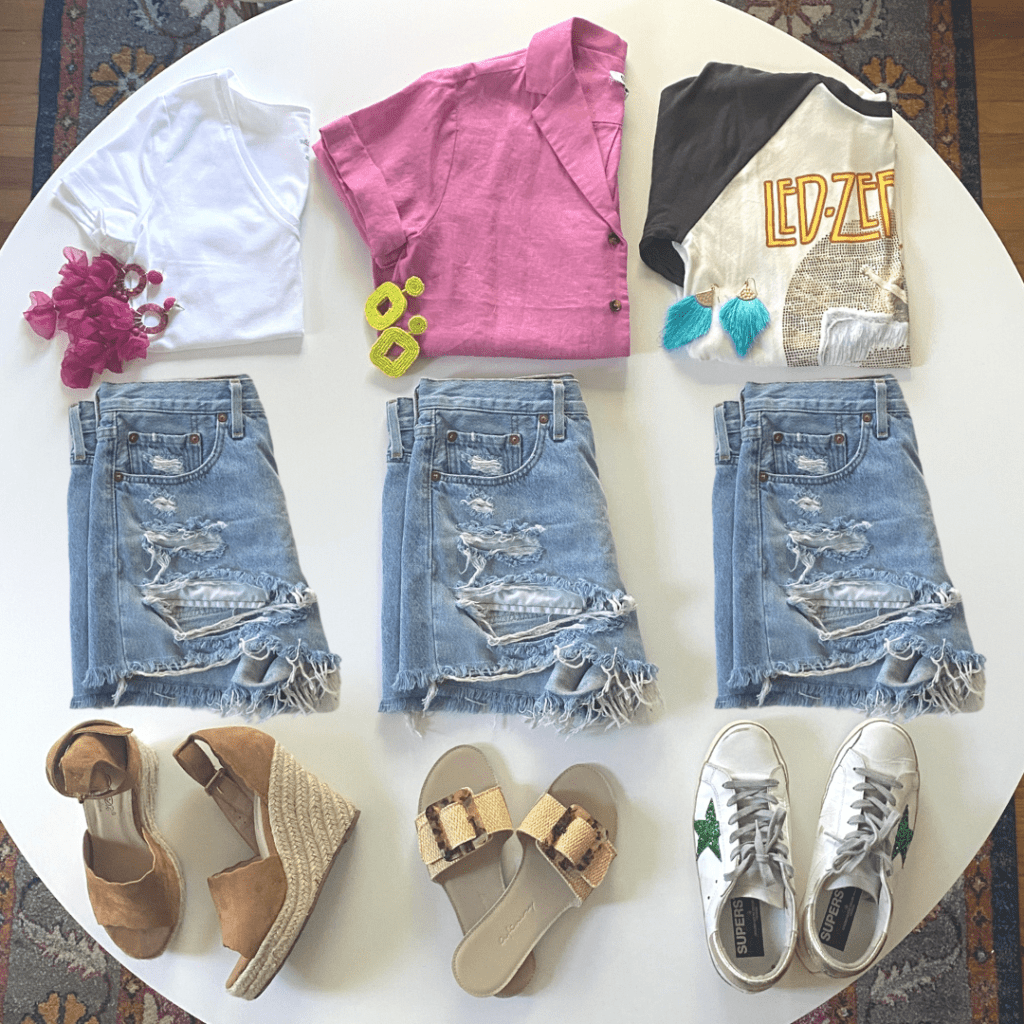 How to Style Your Cutoff Jean Shorts Three Ways